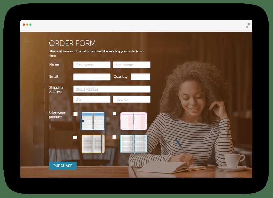 Order Form Builder Sell Your Goods Online 123formbuilder