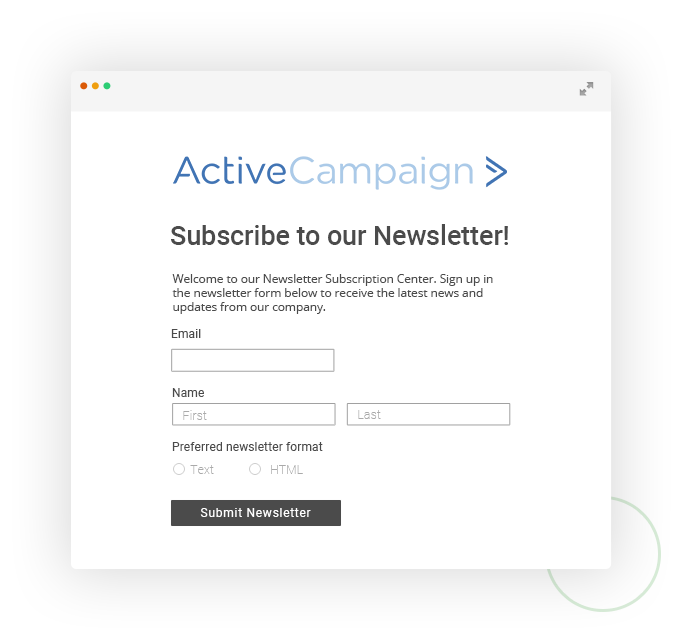 web form with activecampaign integration