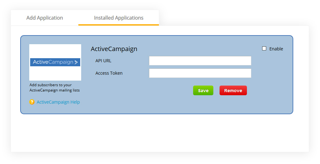 form builder with activecampaign integration
