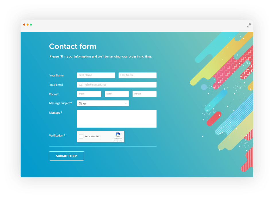 Free html form validation script by 123formbuilder ex for Jquery registration form template