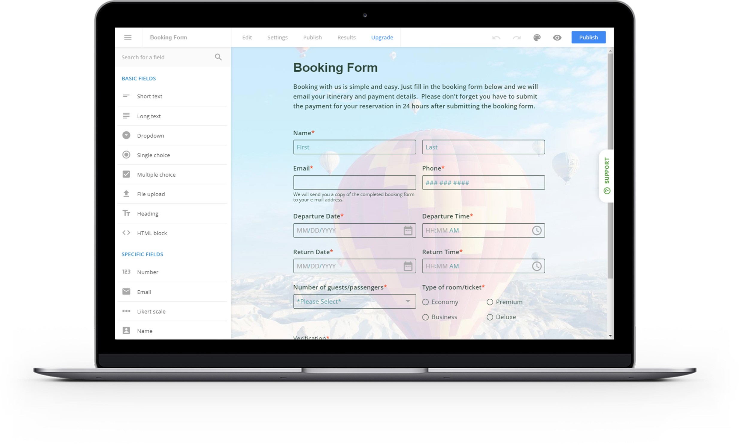 jotform alternative for booking forms