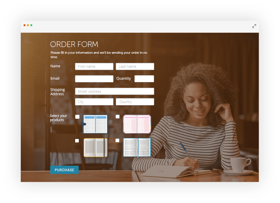 Order Form Builder Sell Your Goods Online 123formbuilder