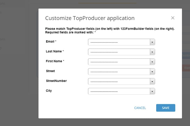 Customize TopProducer application