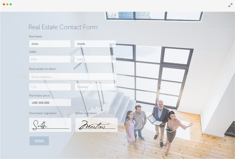 real estate contact form