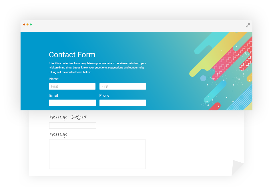 contact form with custom css customization options