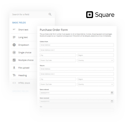 Order Forms with Square Integration | 123FormBuilder