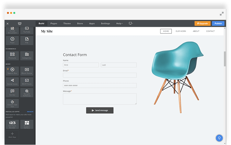 Weebly forms created by 123FormBuilder - Free Sign Up
